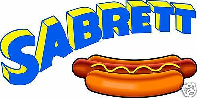 Hot Dogs Concession Decal Private listing