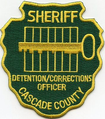 CASCADE COUNTY MONTANA MT Detention Corrections Officer DOC SHERIFF POLICE PATCH