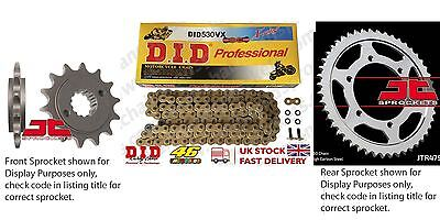 DID X Ring Gold Chain Sprocket Kit 17/45t 530/122 fit Yamaha FZ1 Fazer (ABS) 15