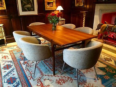 Gorgeous Antique Retro 1970's Younger Teak Dining Table Six Retro Chairs