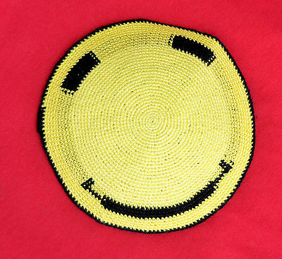 H.Q Hand Made Knitted Jewish Kippah Yarmulke Smiley/Smile  Made in Israel