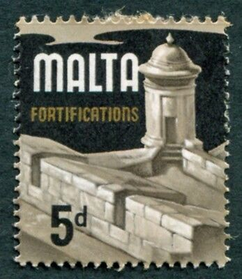 MALTA 1970 5d multicoloured SG337b mint MH FG Fortifications #W18