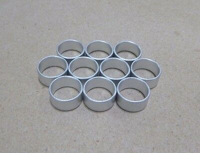 "7/16"" ID x 1/2"" OD x 1/4"" TALL STEEL STANDOFF SPACER BUSHINGS (10pcs.)"