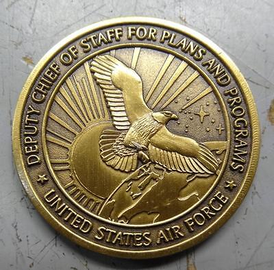 Challenge Coin - Usaf Deputy Chief Of Staff - Integrity & Service  #misc695