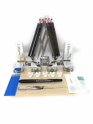 Microblading Permanent Makeup Supplies Eyebrow Tattoo Kit Calipers Ink and More