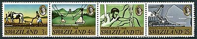 SWAZILAND 1968 3c-25c multicoloured SG137-140 mint MNH FG Independence #W21