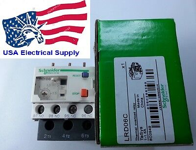 New Schneider Thermal Overload Relay LRD06C 1-1.6Amp