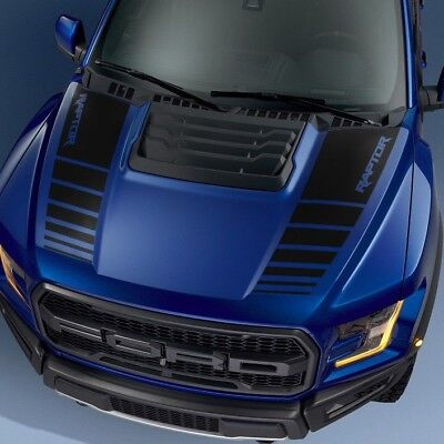 Ford F150 Raptor 2017 hood graphics package kit decal sticker - 1