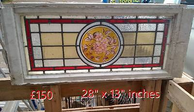 Vintage Original Stained Glass Window