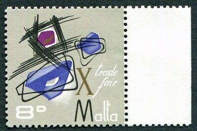 MALTA 1966 8d multicoloured SG374 mint MH FG Malta Trade Fair #W18