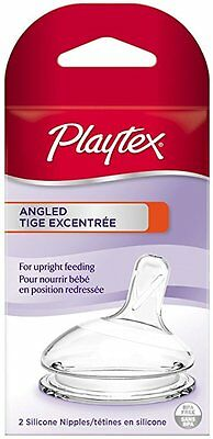 Playtex FAST FLOW 2pk. Silicone Nipples Various Shapes 3-6 M+ NIP BPA Free