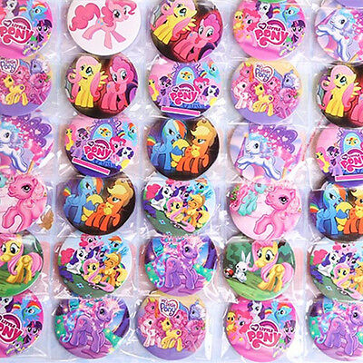 20pcs Fun My Little Pony Figure Doll Brooches Badges Kids Baby Boy Girl Toy Gift