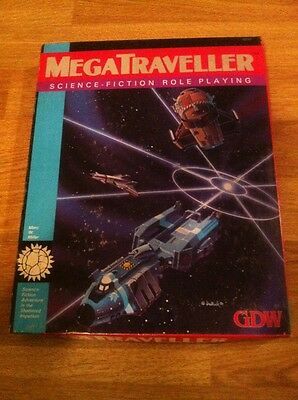 Gdw 0210 Mega Traveller Boxed Science Fiction Role Playing Game 1987