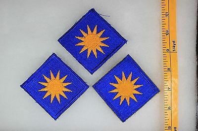 US WW2 Army Cut Edge Snowy 40th Infantry Division 3 Patch Lot OA148