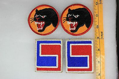 US WW2 Army Cut Edge Snowy 66th & 69th Infantry Division 4 Patch Lot OA153