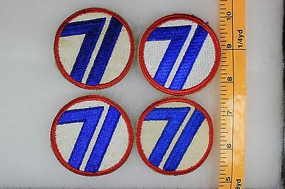 US WW2 Army Cut Edge Snowy 71st Infantry Division 4 Patch Lot OA156