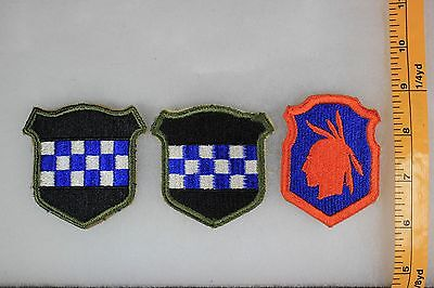 US WW2 Army Cut Edge Snowy 98th & 99th Infantry Division 3 Patch Lot OA170