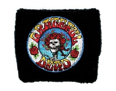 * GRATEFUL DEAD - LOGO - OFFICIAL EMBROIDERED SWEATBAND wristband