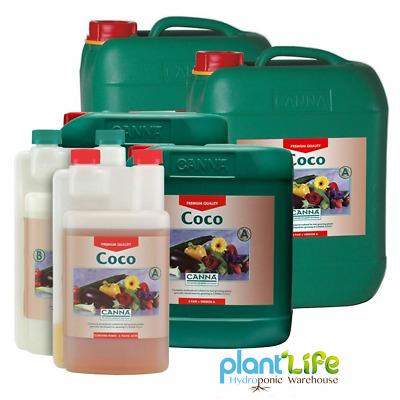 Canna Coco A+B 1/5/10 Litre Veg And Flower Plant Food Base Nutrients Hydroponics