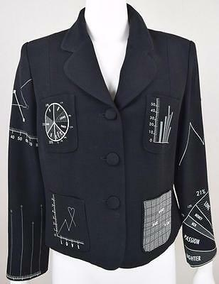 """Vtg 1990's Moschino Cheap & Chic """"You Can't Judge a Girl By Her Clothes"""" Jacket"""
