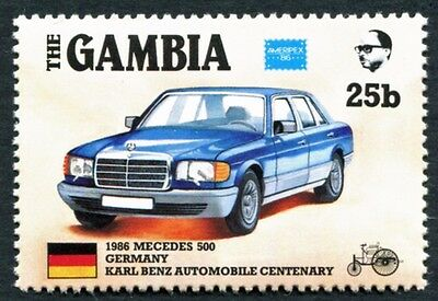 GAMBIA 1986 25b SG650 mint MNH FG Ameripex Exhibition Benz Car Centenary #W18