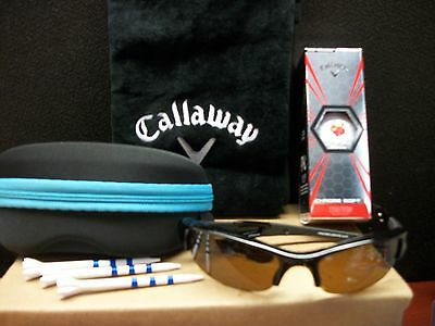 Callaway Chrome Truvis Red / Polarized Sunglasses / Tees / Soft Case / Towel