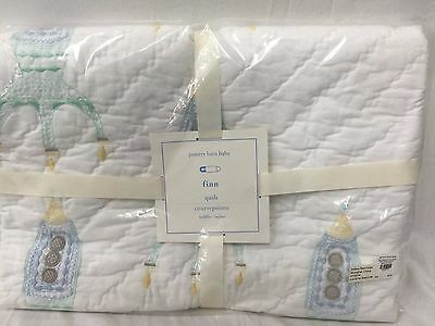 NEW Pottery Barn Kids Finn Nursery Crib Toddler Quilt Space Rockets