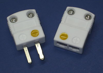 Ultra High Temperature Ceramic Miniature Mini K-Type Thermocouple Connector Set