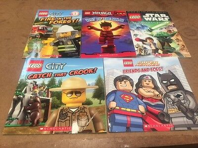 Lot Of 5 Lego Children's Books #2526 FREE SHIPPING