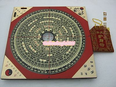 Feng Shui Bagua Taiji Compass Instrument 18 Layers Opening Genuine Professional