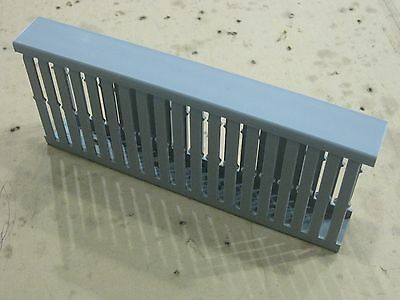 """NEW Panduit wire duct w/ cover channel F1X4LG6 gray cable management tray 9.5"""""""