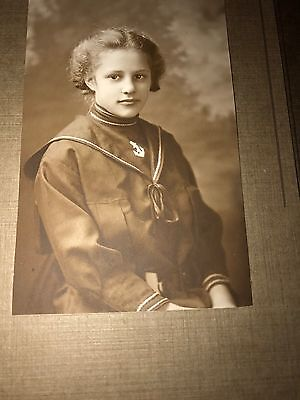 Photo 1913 African American Girl Sailor Suit