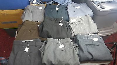 Men's Lot of 9 pair of Men's Dress pants Various sizes,brands&styles for RESALE