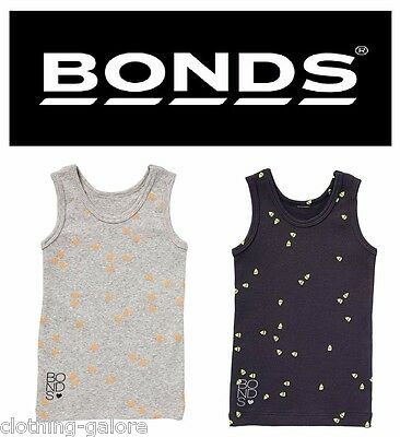 BONDS BABY RIBBIE CHESTY Singlet Ribbed Top Tee Childrenswear Boys Girls BYW9A
