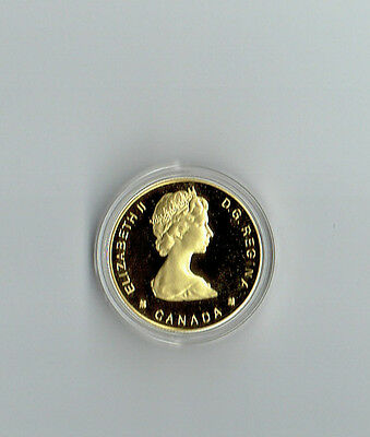 1689 Sainte-Marie 1989 Canada Coin 100$ BU 1/4 oz Troy of fine Gold COA Case Box