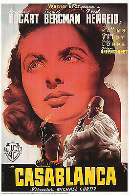 Casablanca  (1942) Limited Edition  Movie Poster  -  Spanish Version  -  Rolled