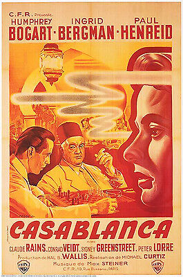 Casablanca  (1942) Limited Edition  Movie Poster  -  French Version  -  Rolled