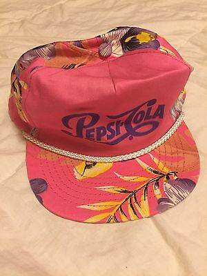 Ultra-Rare Vintage 80s Tropical Surfer Pepsi Cola Trucker Hat Snap Back Retro