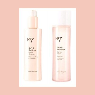No7 Soft And Soothed Gentle Cleanser And Toner