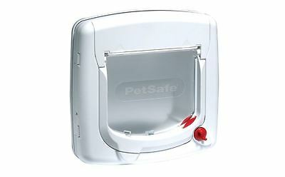 PetSafe Staywell Deluxe Manual 4-Way Locking Cat Flap White, Door, Wall, Home