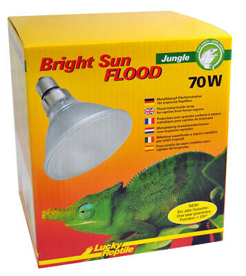 Lucky Reptile Bright Sun Flood Jungle 70W für E27 Fassungen UVA UVB StrahlungNEU