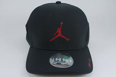 e8c7645876104b Nike Jordan Classic 99 Dri-Fit Fitted Stretch Hat Cap Black gym Red Jumpman