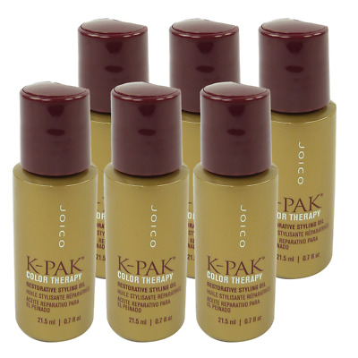 Joico K-PAK Color Therapy Restorative Styling Oil  Hair Care Treatment 6x21.5ml