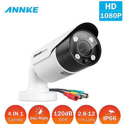 ANNKE 1080P 2.8-12mm Focus Security Bullet 4in1 Camera 120dB WDR Outdoor OSD Meu