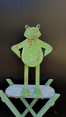 Grenouille En Bois Decoration Maison Jardin Collection Artisanal