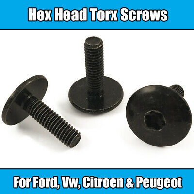 10x M6 x 20mm TORX SCREW FOR VW CITROEN PEUGEOT FORD METAL HEX HEAD