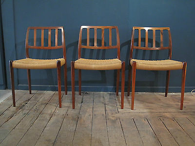 Danish chairs - chaises danoises - Niels Moller - rosewood - vintage design