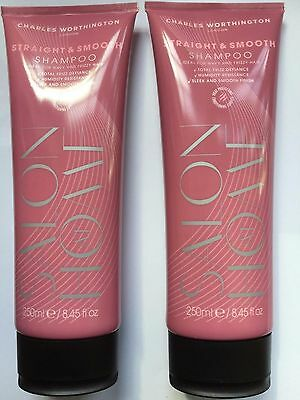 Charles Worthington Style Setter Straight & Smooth Shampoo 250ml X 2 Pieces