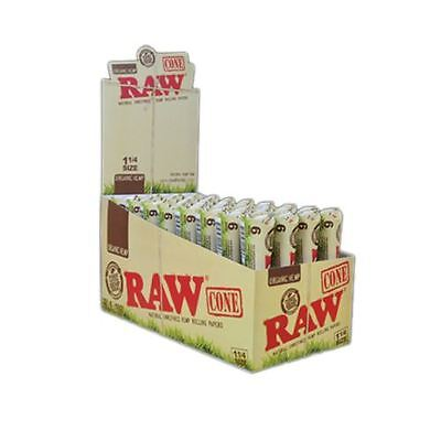 "RAW Organic Hemp Pre-Rolled Cones 1 1/4"" 192 Cones (Full Box)"