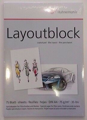 Layoutblock A4 Hahnemühle Markerblock Copic Marker Papier Art.Nr.10625040